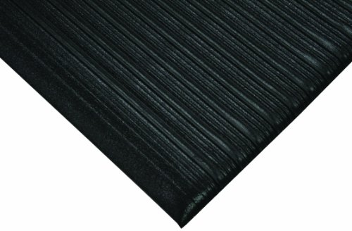 Wearwell PVC 451 Tuf Sponge Light Duty Anti-Fatigue Mat, for Dry Areas, 3' Width x 60' Length x 3/8'' Thickness, Black by Wearwell Industrial