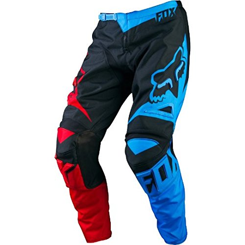 180 Blue Pant Fox - Fox Racing 180 Race Men's MX Motorcycle Pants - Blue/Red / Size 28