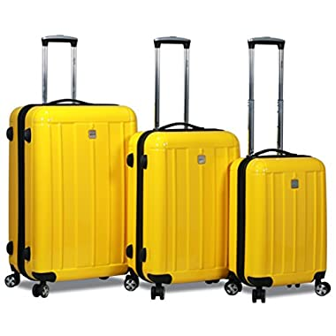 HiPack X-Treme Series 3-piece Expandable Hardshell Spinners w/ Tamper Proof TSA Lock Luggage Set