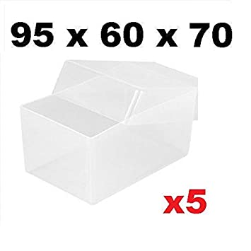 X5 clear plastic business card boxes 95mm x 60mm x 70mm holds up x5 clear plastic business card boxes 95mm x 60mm x 70mm holds up to 250 reheart Gallery