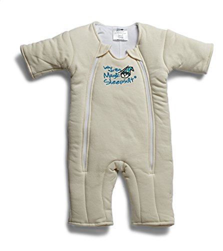 Baby Merlin's Magic Sleepsuit Cotton (3-6 Months (12-18 lbs.), CREAM) by Baby Merlin's Magic Sleepsuit