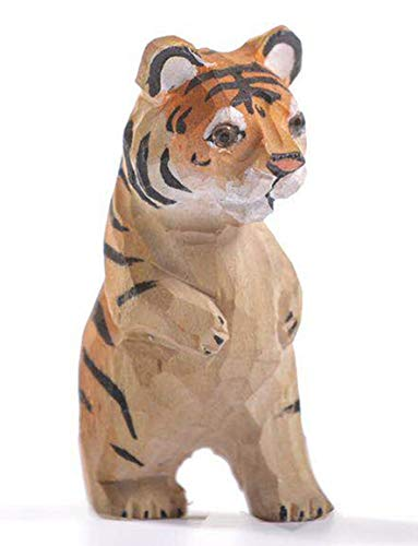 VIKANO Illustration Animal Cute Baby Figure Animal Tiger Figures for Boys Toddler Detailed Cute Little Animal Illustration ()