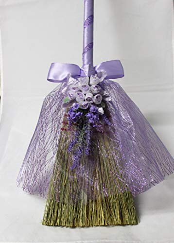 Wedding Party Ceremony Lavender jumping the Broom 39 inch decorated ()
