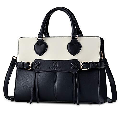 Fanspack Womens Purses and Handbags PU Leather Top Handle Satchel Shoulder Bags Messenger Tote Bag