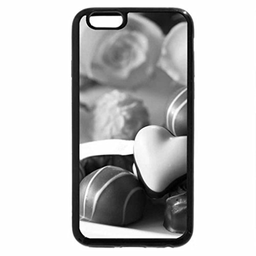 iPhone 6S Case, iPhone 6 Case (Black & White) - Chocolate and roses