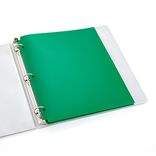 COMIX 2 Pocket Letter Size Poly File Portfolio Folder with 3-Hole Punch - 12 Pack (Green) Photo #4