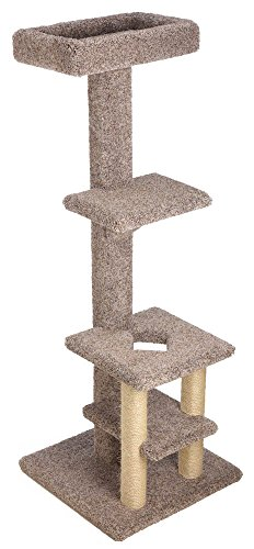 Deluxe Tiered Cat Tree with 12x20 Inch Top Tray and (2) Sisal Legs (Beige) (Tree Tiered Cat)