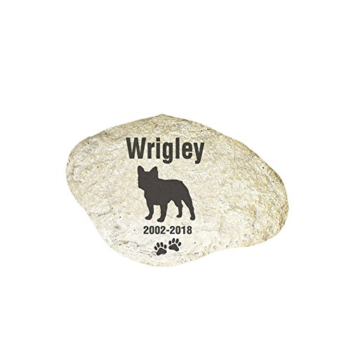 GiftsForYouNow Engraved Dog Memorial Garden Stone, French (Bulldog Keepsake)