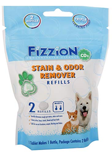 Fizzion Pet Stain & Odor Remover Refill Tablets 2-Pack (Makes 46oz) (Best Homemade Carpet Cleaning Solution For Pet Stains)