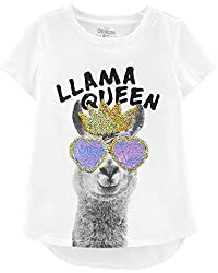 Girls' Sequin Short-Sleeve T-Shirt
