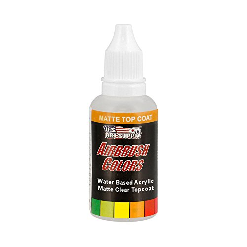 (US Art Supply Clear Matte Topcoat Acrylic Airbrush Paint, 1 oz.)