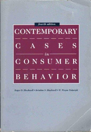 Contemporary Cases in Consumer Behavior