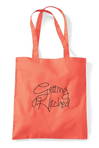 Hitched Do Shopper Tote Party Customised Hen Coral Bag Getting Personalised BSt4Xq8