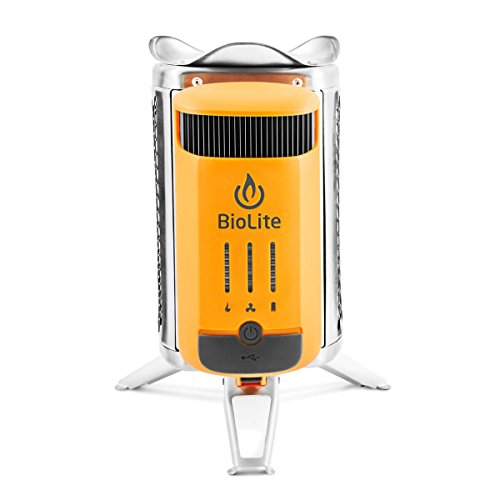BioLite CampStove 2- Wood-Burning Small Lightweight Stove, USB FlexLight, Fire Starter, Generates 3W of Electricity for USB Charging Using Excess Heat, 5 x 5 x 8.3 Inches, Silver/Yellow (CSC1001) by BioLite (Image #3)
