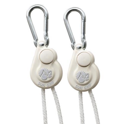 1 Light Outdoor Hanger (Sun Grip Push Button Light Hanger 1/8 in White -1/Pair (12/Cs))