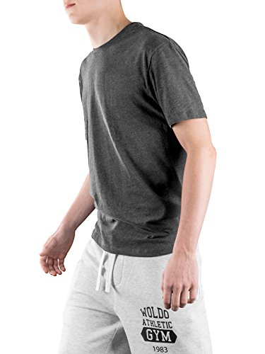 ... Shirts 60 fit Baumwolle grau T Regular Tshirt Shirt T Männer 3er Herren  Pack Grey Basic ... 540c3314b2