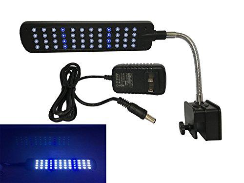 FORTRIC 48 LEDs Clip Aquarium Lights Flexible Clamp LED light Lamp for Fish Tank Pet Plant Blue and