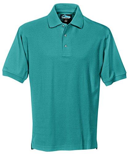Tri Mountain Mens Cotton Pique Golf Shirt  168Tm   Jade 2Xl