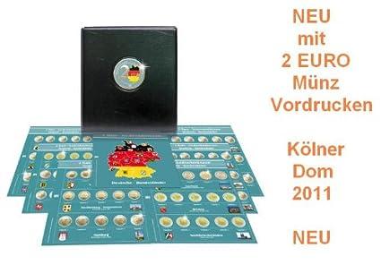 SAFE 7345 PREMIUM 2 Euro Münzen Sammelalbum Deutsche Bundesländer 2006-2021- Münzsammelalbum - für Ihre Coin Collection + 6 M