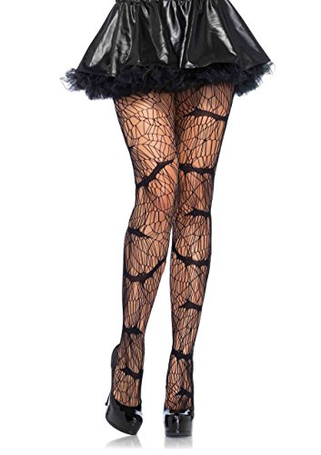Leg Avenue Women's Vampire Bat Pantyhose, Black, One Size - Halloween Costumes Competition