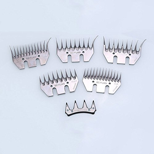 General 5 sets Sheep Clipper Blades Shearing Comb Electric Shears Replacement Comb and Cutter (13 tooth straight) by General (Image #8)