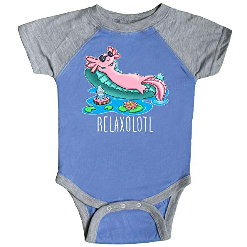 inktastic - Relaxolotl- Cute Infant Creeper Newborn Blue and Heather 360b0 -