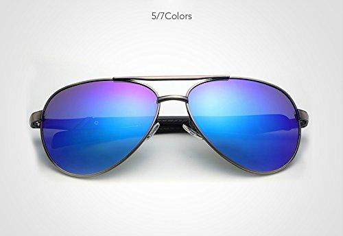 Blue Sol Borders polarizadas la Gafas de Hombres de Diseño de conducción Metal Gafas polarizadas Gafas XZP Ciclismo Moda Piloto Hombres Sol Marca de UV400 para Gafas q8na4Bt