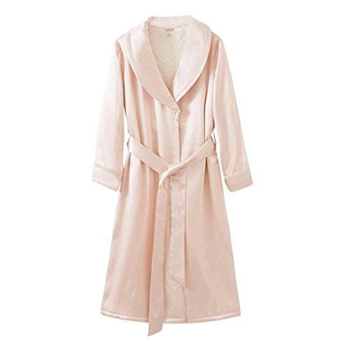 ZLR Autunno Inverno Ispessimento Caldo Pigiama Seta Sleep Robe Home Abbigliamento Accappatoio
