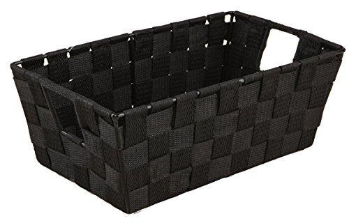 Simplify Woven Strap Small Shelf Tote-Black