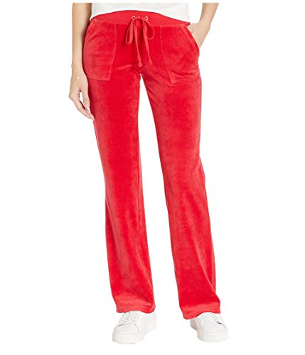 (Juicy Couture Women's Del Rey Velour Pants Cordial X-Large 30)