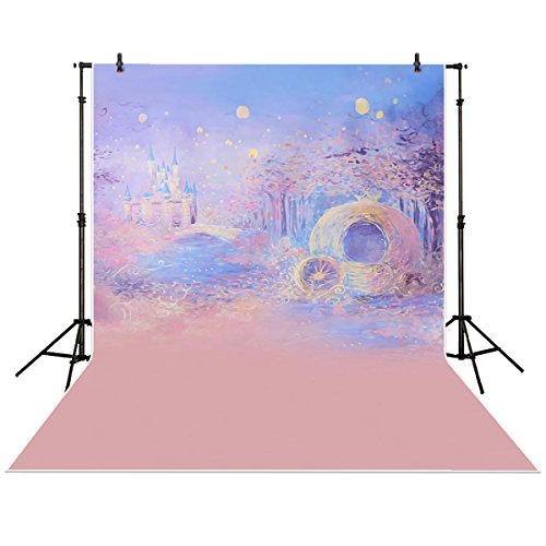 Funnytree 5x7ft Photography Backdrops Background Blue Bokeh Dreamy Night Castle Boy Girl Summer Baby Shower Photography Studio ()