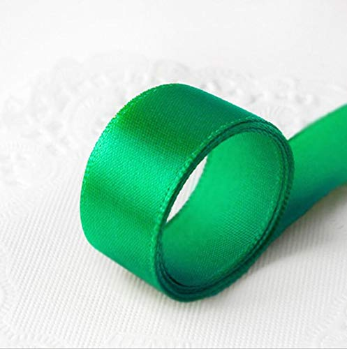 Jammas 10mm 15mm 3/8'' 5/8'' 25Yards/22 Meters Satin Green Ribbons Wedding Invitation Card Party Decoration Scrapbooking Wrap Supplies - (Color: 15MM Green)