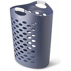 Rubbermaid Flex 'n Carry Laundry Hamper, 2.2-Bushel, Royal Blue (FG260004ROYBL)