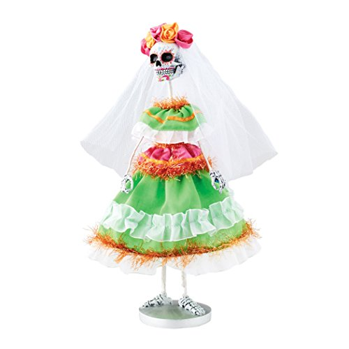 Department 56 Halloween Skeletons Day of the Dead Skeleton Figurine, 12 inch -