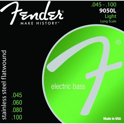 Fender® Stainless Steel Flatwound Bass Strings - Light