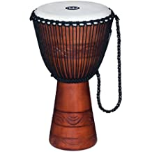 Meinl Percussion ADJ2-L+BAG African Style Rope Tuned 12-Inch Wood Djembe with Bag, Brown