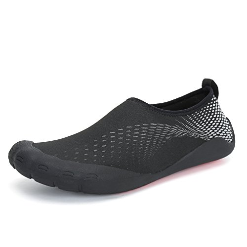 Dannto Water Shoes Men Quick-Dry Aqua Sock Outdoor Barefoot For Sailing Surfing Yoga Swim Aerobics Exercise Fitness Diving Boating Silver-a TlXUPfYY