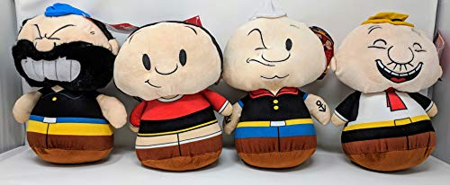 Popeye, Olive OYL, Bluto, and J. Wellington Wimpy Plush with Rounded Bottom - 10