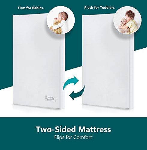 Moonlight Slumber Breathable Dual Sided Baby Crib Mattress. Firm Sided for Infants Reverse to Soft Side for Toddlers Bed. Easy to Clean Waterproof and Odor Resistant (Made in USA. Latest Version). 4