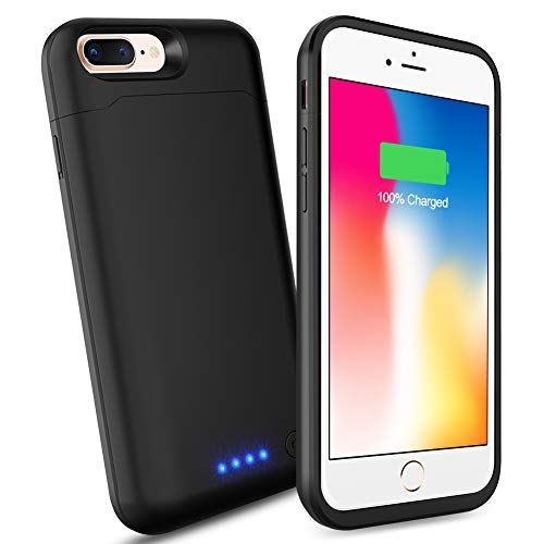 iPhone 6s Plus/6 Plus/8 Plus/7 Plus Battery Case, SHENMZ Upgraded 8500mAh Portable Charging Battery Pack Compatible iPhone 8 Plus/7 Plus/6s Plus/6 Plus (5.5 Inch) Protective Charger Case Backup Power