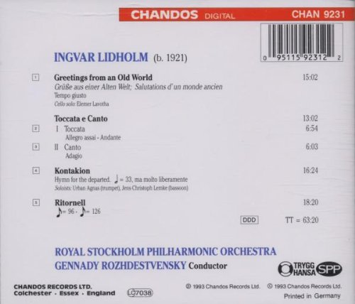 Ingvar Lidholm: Greetings from an Old World / Toccata e Canto / Kontakion / Ritornell - Gennady Rozhdestvensky / Royal Stockholm Philharmonic Orchestra