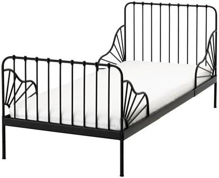 Ikea Ext 18386.81420.614 - Somier con somier de láminas, Color Negro