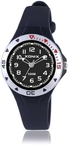 Girls girl girls kid luminous quartz pointer waterproof watch-F