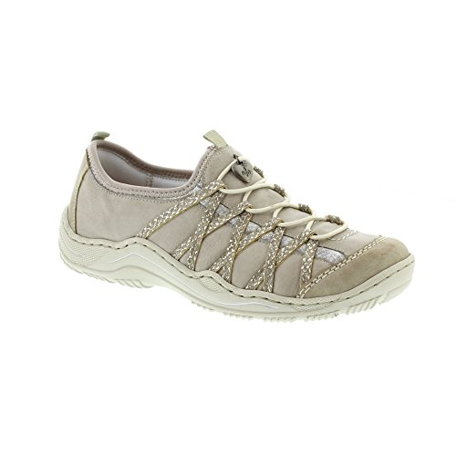 Rieker Damen L0559-33 Bässe Grey