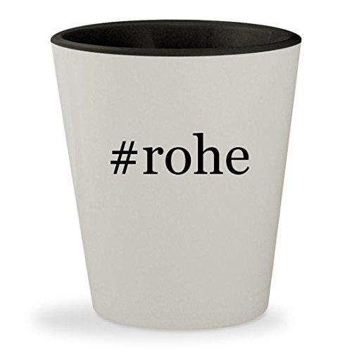 #rohe - Hashtag White Outer & Black Inner Ceramic 1.5oz Shot Glass