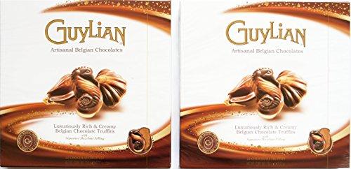 Guylian Truffles - GUYLIAN Artisanal Belgian Chocolates Truffles with Hazelnut Filling 2-Pack of 250 g (8.82 OZ) on Each box with NET WT 500 g (17.64 OZ)