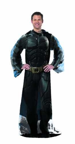 Batman The Dark Knight Rises Costume Comfy Throw by Warner Brothers (Batman Black Knight Rises)