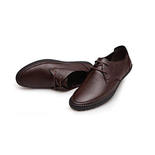 Conduite Des Papa Des Harnais De Loisirs Confortable De Ensembles Mode Chaussures Brown1 Et LYZGF Automne Hommes g4aq8