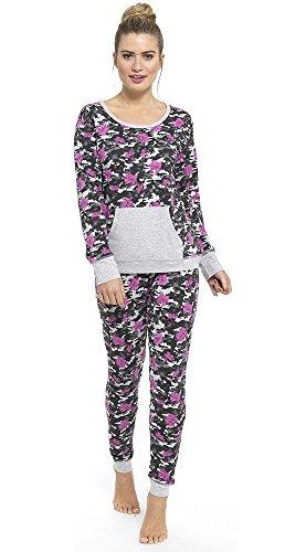 due Clothing HisAndHers Floral pezzi Purple Pigiama Donna EUdR1nqd