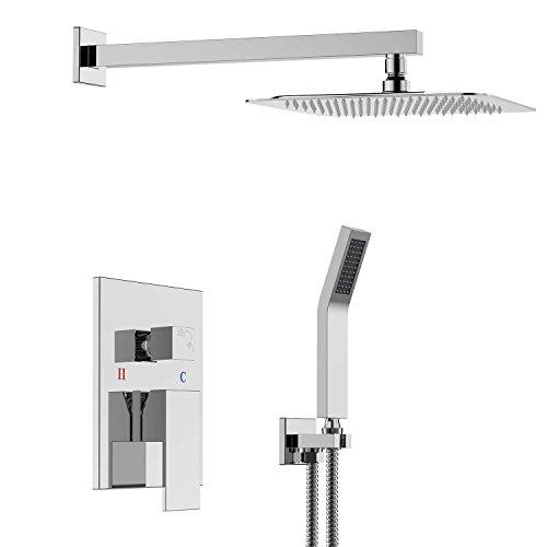 Modern Led Digital Display Shower Faucet Set Rain Shower Head 3-way Handshower Digital Display Mixer Tap Bathroom Shower Faucet Nourishing Blood And Adjusting Spirit Shower Faucets